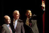 United States President Barack Obama, right, and U.S. Vice President Joe Biden, left, make a campaign stop in Wilmington, Delaware on behalf of Democratic U.S. Senate candidate Chris Coons, left.  Coons is running for the U.S. Senate seat formerly held by VP Biden..Credit: Phil McAuliffe - Pool via CNP