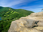 Cannon Mountain from Artists Bluff in Franconia Notch in the White Mountain National Forest of New Hampshire.
