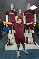 Pictured: A young fan. Friday 24 August 2018<br /> Re: Swansea City FC third kit launch at the club shop, Liberty Stadium, Swansea, Wales, UK.