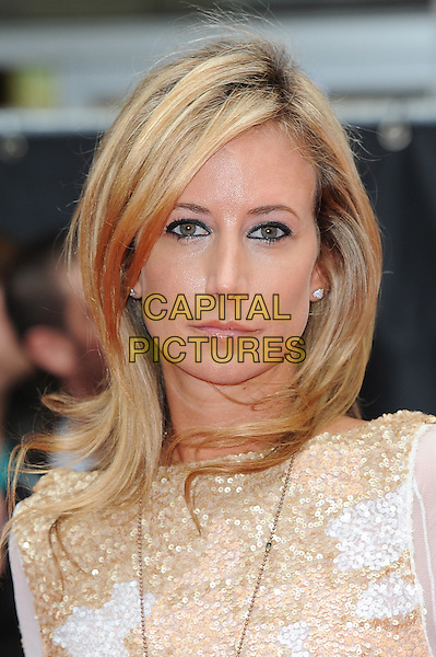 Lady Victoria Hervey.'The Expendables 2' UK film premiere held at the Empire Leicester Square,.London, England..13th August 2012.headshot portrait gold white beads beaded .CAP/BEL.©Tom Belcher/Capital Pictures.