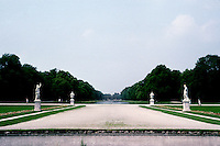 Munich: The Nymphenburg--formal gardens, 1701. Grand Canal in background. Photo '87.