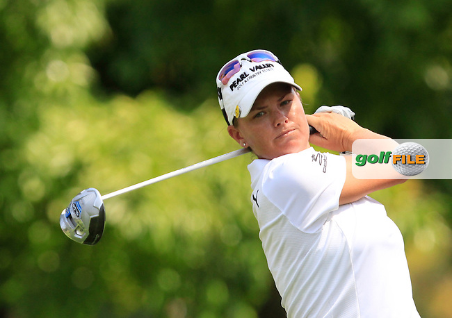Lee-Anne Pace (RSA) on the 9th tee during Round 3 of the HSBC Women's Champions at the Sentosa Golf Club, The Serapong Course in Singapore on Saturday 7th March 2015.<br /> Picture:  Thos Caffrey / www.golffile.ie