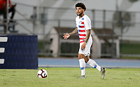 GEORGETOWN, GRAND CAYMAN, CAYMAN ISLANDS - NOVEMBER 19: DeAndre Yedlin #2 of the United States moves with the ball during a game between Cuba and USMNT at Truman Bodden Sports Complex on November 19, 2019 in Georgetown, Grand Cayman.