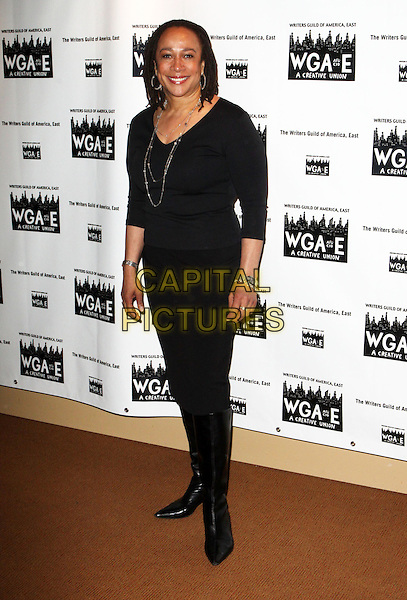 S. EPATHA MERKERSON.61st Annual Writers Guild Awards held at The Hudson Theatre at Millennium Broadway Hotel, New York, NY, USA..February 7th, 2009.full length black top leggings boots .CAP/ADM/PZ.©Paul Zimmerman/AdMedia/Capital Pictures.