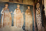 Iconography inside the church at the Monastery Mileševa, Serbia originally built in the 13th century.