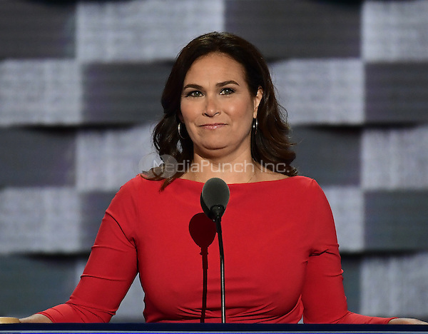 Elyse Hogue, President, NARAL Pro-Choice America makes remarks during the third session of the 2016 Democratic National Convention at the Wells Fargo Center in Philadelphia, Pennsylvania on Wednesday, July 27, 2016.<br /> Credit: Ron Sachs / CNP/MediaPunch<br /> (RESTRICTION: NO New York or New Jersey Newspapers or newspapers within a 75 mile radius of New York City)