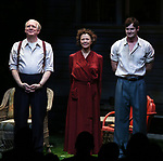 "Tracy Letts, Annette Bening and Benjamin Walker during the Broadway Opening Night Curtain Call for ""All My Sons"" at The American Airlines Theatre on April 22, 2019  in New York City."