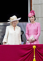 17 June 2017 - London, England - Camilla, Duchess of Cornwall and Princess Kate, Duchess Kate, Duchess of Cambridge . The ceremony of the Trooping the Colour, marking the monarch's official birthday, in London. Photo Credit: PPE/face to face/AdMedia