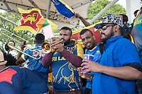 The Sri Lankan fans really enjoyed themselves at Sophia Gardens during Afghanistan vs Sri Lanka, ICC World Cup Cricket at Sophia Gardens Cardiff on 4th June 2019