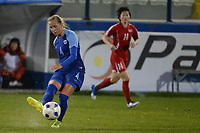 20190304 - LARNACA , CYPRUS : Finnish midfielder Ria Oling pictured during a women's soccer game between Finland and Korea DPR , on Monday 4 March 2019 at the Antonis Papadopoulos Stadium in Larnaca , Cyprus . This is the third game in group A for Both teams during the Cyprus Womens Cup 2019 , a prestigious women soccer tournament as a preparation on the Uefa Women's Euro 2021 qualification duels. PHOTO SPORTPIX.BE | STIJN AUDOOREN