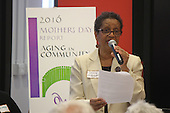 The 2016 Mother&rsquo;s Day Report sponsored by OWL took place Saturday afternoon at the Community Programs Accelerator located at 5225 S. Cottage Grove. The topic for this year&rsquo;s report was &ldquo;Aging in Community&rdquo;.<br /> <br /> 8715 &ndash; Grace Latibeaudiere-Williams who is currently taking care of her 100-year-old mother at home spoke about services through the Department on Aging.<br /> <br /> Please 'Like' &quot;Spencer Bibbs Photography&quot; on Facebook.<br /> <br /> All rights to this photo are owned by Spencer Bibbs of Spencer Bibbs Photography and may only be used in any way shape or form, whole or in part with written permission by the owner of the photo, Spencer Bibbs.<br /> <br /> For all of your photography needs, please contact Spencer Bibbs at 773-895-4744. I can also be reached in the following ways:<br /> <br /> Website &ndash; www.spbdigitalconcepts.photoshelter.com<br /> <br /> Text - Text &ldquo;Spencer Bibbs&rdquo; to 72727<br /> <br /> Email &ndash; spencerbibbsphotography@yahoo.com