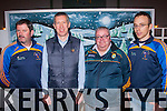 Football<br /> ---------<br /> Pictured at the 125th Anniversary celebration of Keel GAA club last Friday night in the Community hall,Keel were L-R Brian Prendergast,Padraig Barty,Colin Clifford&amp;PJ Ryan.