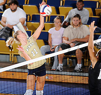 27 September 2008:  FIU outside hitter Ines Medved (11) attempts a kill in the third set of the FIU 3-0 (25-13, 25-23, 25-18) victory in straight sets over Troy at Golden Panther Arena in Miami, Florida.