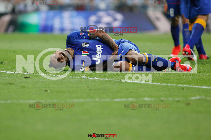 Juventus´s Vidal suffers during the Champions League semi final soccer match between Real Madrid and Juventus at Santiago Bernabeu stadium in Madrid, Spain. May 13, 2015. (ALTERPHOTOS/Victor Blanco) /NortePhoto.COM