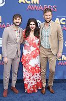15 April 2018 - Las Vegas, NV -  Lady Antebellum, Dave Haywood, Hillary Scott, Charles Kelley.  2018 ACM Awards arrivals at MGM Grand Garden Arena. <br /> CAP/ADM/MJT<br /> &copy; MJT/ADM/Capital Pictures
