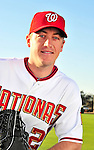 28 February 2010: Washington Nationals starting pitcher Jordan Zimmermann poses for his Spring Training photo at Space Coast Stadium in Viera, Florida. Mandatory Credit: Ed Wolfstein Photo