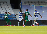 11th July 2020; The Kiyan Prince Foundation Stadium, London, England; English Championship Football, Queen Park Rangers versus Sheffield Wednesday; Jacob Murphy of Sheffield Wednesday shoots to score his sides 3rd goal in the 78th minute to make it 0-3