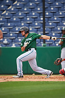 Daytona Tortugas shortstop Blake Trahan (7) bats during a game against the Clearwater Threshers on April 20, 2016 at Bright House Field in Clearwater, Florida.  Clearwater defeated Daytona 4-2.  (Mike Janes/Four Seam Images)