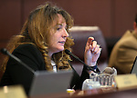 Nevada Assembly Minority Leader Marilyn Kirkpatrick, D-North Las Vegas, works in committee at the Legislative Building in Carson City, Nev., on Wednesday, March 4, 2015. <br /> Photo by Cathleen Allison