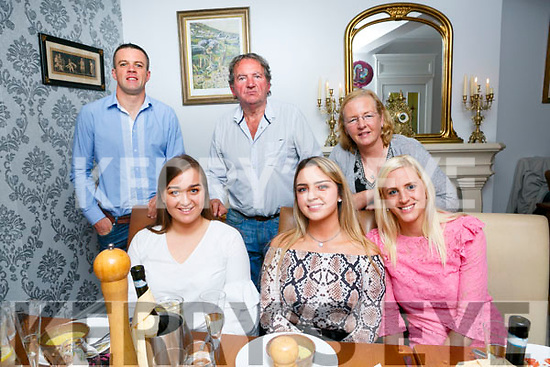 Laura Dempsey Diggins, Oakpark Tralee celebrates her 21st with family at Bella Bia's on Saturday Pictured Laura McElligott, Laura Dempsey Diggins, Niamh Callaghan, Back l-r Dave Callaghan, Frank Diggins and Ann Dempsey