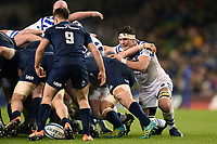Francois Louw of Bath Rugby in action at a scrum. Heineken Champions Cup match, between Leinster Rugby and Bath Rugby on December 15, 2018 at the Aviva Stadium in Dublin, Republic of Ireland. Photo by: Patrick Khachfe / Onside Images