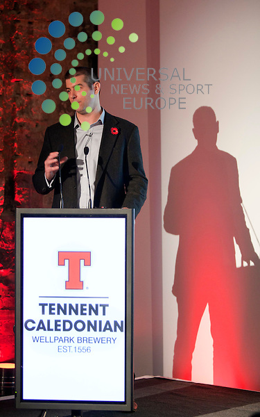 Steve Annand, Tennents commercial managing director, announces a new Ale from Tennents and a partnership with Scottish barley farmers, with 100% commitment to use Scottish barley. Picture: Johnny Mclauchlan News and Sport (Europe)27/10/2011