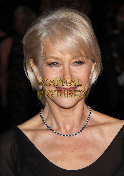 HELEN MIRREN.The 21st Annual Palm Springs International Film Festival held at The Civic Center in Palm Springs, California, USA. .January 5th, 2010.headshot portrait black blue diamond necklace .CAP/RKE/DVS.©DVS/RockinExposures/Capital Pictures.