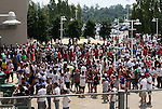 09 August 2009: Fans lined up waiting to be let into the stadium. Real Madrid of Spain's La Liga defeated DC United of Major League Soccer 3-0 at FedEx Field in Landover, Maryland in an international club friendly soccer match.