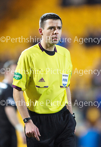 St Johnstone v Motherwell....25.02.14    SPFL<br /> Ref Kevin Clancy<br /> Picture by Graeme Hart.<br /> Copyright Perthshire Picture Agency<br /> Tel: 01738 623350  Mobile: 07990 594431