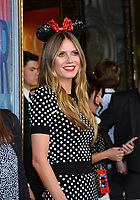 Heidi Klum at the Hollywood Walk of Fame Star Ceremony honoring Disney character Minnie Mouse, Los Angeles, USA 22 Jan. 2018<br /> Picture: Paul Smith/Featureflash/SilverHub 0208 004 5359 sales@silverhubmedia.com