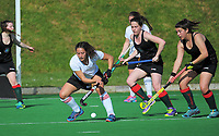 Action from the National Senior Tournament women's hockey match between Wairarapa and Waikato at National Hockey Stadium in Wellington, New Zealand on Wednesday, 20 October 2017. Photo: Dave Lintott / lintottphoto.co.nz