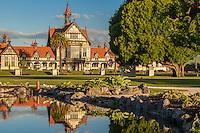 Late afternoon, Rotorua Museum, New Zealand - stock photo, canvas, fine art print