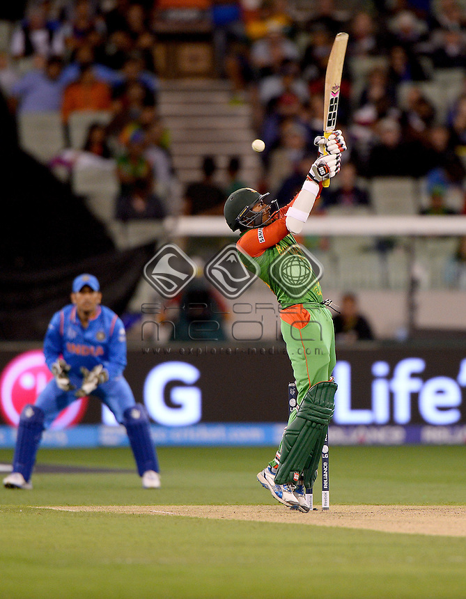 Soumya Sarkar  (Bang)<br /> India vs Bangladesh / Qtr Final 2<br /> 2015 ICC Cricket World Cup<br /> MCG / Melbourne Cricket Ground <br /> Melbourne Victoria Australia<br /> Thursday 19 March 2015<br /> &copy; Sport the library / Jeff Crow