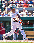 14 March 2014: Detroit Tigers outfielder Torii Hunter in action during a Spring Training Game against the Washington Nationals at Joker Marchant Stadium in Lakeland, Florida. The Tigers defeated the Nationals 12-6 in Grapefruit League play. Mandatory Credit: Ed Wolfstein Photo *** RAW (NEF) Image File Available ***