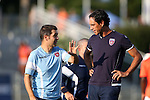22 July 2016: Miami head coach Alessandro Nesta (ITA) (right) with assistant coach Lorenzo Rubinacci (ITA) (left). The Carolina RailHawks hosted Miami FC at WakeMed Stadium in Cary, North Carolina in a 2016 North American Soccer League Fall Season game. The game ended in a 3-3 tie.