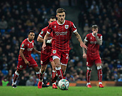 9th January 2018, Etihad Stadium, Manchester, England; Carabao Cup football, semi-final, 1st leg, Manchester City versus Bristol City; Jamie Paterson of Bristol City moves the ball into attack