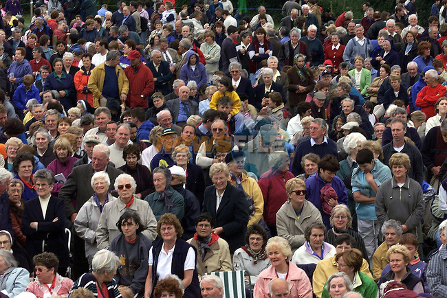 Some of the Large Crowd that gathered on the Hill of Slane.Pic Fran Caffrey Newsfile