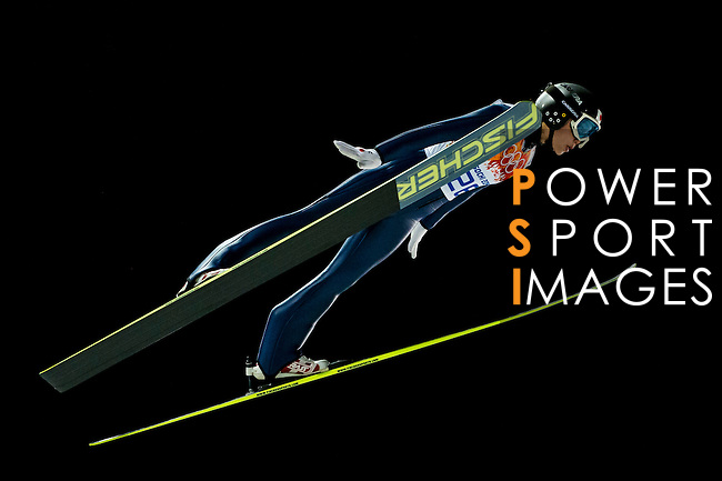 Yuki Ito of Japan compete during the Ski Jumping Ladies' Normal Hill Individual as part of the 2014 Sochi Olympic Winter Games at RusSki Gorki Jumping Center on February 11, 2014 in Sochi, Russia. Photo by Victor Fraile / Power Sport Images