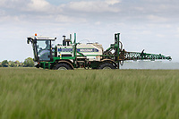 15.5.2020 Spraying Winter barley in Lincolnshire <br /> ©Tim Scrivener Photographer 07850 303986<br />      ....Covering Agriculture In The UK....