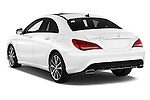 Car pictures of rear three quarter view of 2016 Mercedes Benz CLA - 4 Door Sedan Angular Rear