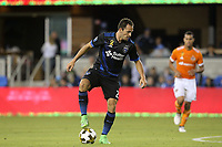 San Jose, CA - Saturday September 16, 2017: Marco Ureña during a Major League Soccer (MLS) match between the San Jose Earthquakes and the Houston Dynamo at Avaya Stadium.