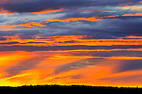 CLouds at sunset Waskasiu Lake<br /> Prince Albert National Park<br /> Saskatchewan<br /> Canada