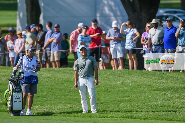 Francesco Molinari (ITA) looks over his approach shot on 2 during round 3 of the 2019 Charles Schwab Challenge, Colonial Country Club, Ft. Worth, Texas,  USA. 5/25/2019.<br /> Picture: Golffile | Ken Murray<br /> <br /> All photo usage must carry mandatory copyright credit (© Golffile | Ken Murray)