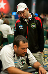 Team Pokerstars Pro and Argentina Team Captain watches the play of a teammate during 5 Handed action.