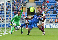 Cardiff City's Souleymane Bamba clears the danger <br /> <br /> Photographer Ian Cook/CameraSport<br /> <br /> The EFL Sky Bet Championship - Cardiff City v Aston Villa - Saturday August 12th 2017 - Cardiff City Stadium - Cardiff<br /> <br /> World Copyright &copy; 2017 CameraSport. All rights reserved. 43 Linden Ave. Countesthorpe. Leicester. England. LE8 5PG - Tel: +44 (0) 116 277 4147 - admin@camerasport.com - www.camerasport.com
