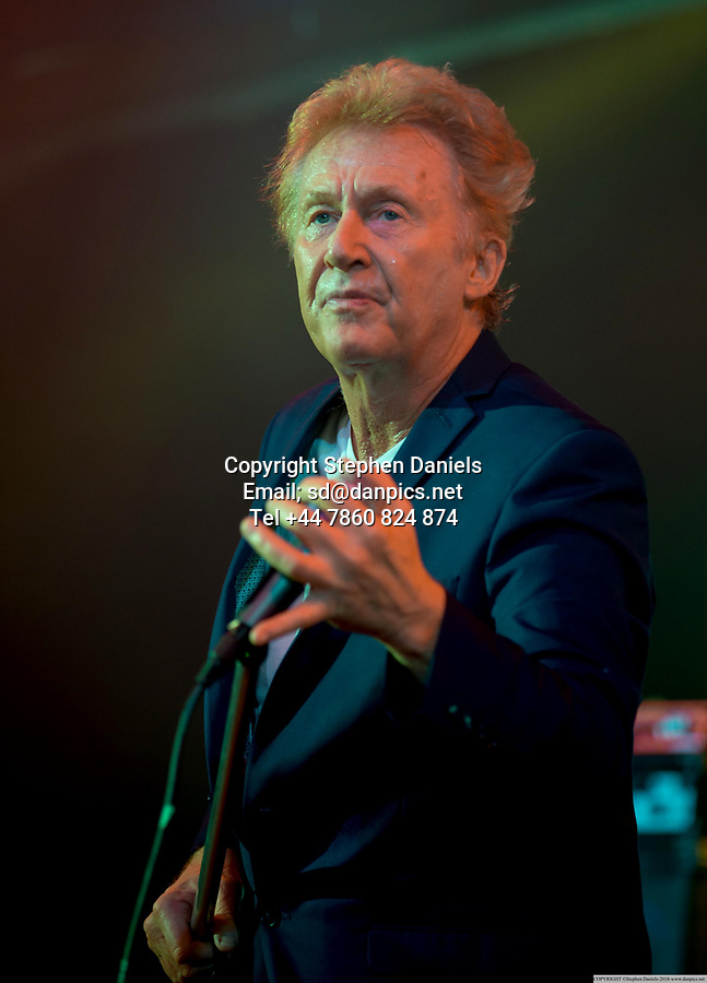 DANPICS; &copy; Stephen Daniels 09/03/2018-----<br /> -------<br /> The Jones Gang performing at Butlins, Skegness, Lincs.<br /> Band; Kenney Jones (Drums), Robert Hart (Singer), Pat Davey (Bass), Sam Tanner (Keyboards) and believed to be Johnson J Medwick (Guitarist) ?<br />  -------<br /> If Published/Broadcast or any other use with out the permission of the photographer/copyright owner, Minimum Fee &pound;2m+vat---NOT A PUBLIC DOMAIN PHOTOGRAPH, FEE PAYABLE ON USE ON THIS IMAGE. REGARDLESS OF PUBLISHER or WEB or BROADCASTERS or ANY ONE USES THE PICTURES TERMS &amp; CONDITION STATE. REMOVAL OF THIS META DATA AND OWNERSHIP OF COPYRIGHT WILL BE DEAMED AS FRAUD AND THEFT.<br /> EXPRESS NEWSPAPERS,  ARE NOT ALLOWED TO PUBLISH THIS PICTURE-If breached &pound;10m+ALL LEGAL FEES-------------------<br />  *NO INTERNET USE PERMITTED*  PRINT MEDIA ONLY-------------------------------------------------------------------<br /> &gt;------<br /> &gt;------<br /> All images are supplied &amp; used under the terms and condition of Stephen Daniels and not publication which use them.<br /> All images which is the copyright of Stephen Daniels<br /> and/or DANPICS are supplied under the terms and <br /> condition of Stephen Daniels. By using the image you<br /> agree them in full.----<br /> &gt;<br /> Words by Richard Vamplew Tel 07933 676 119