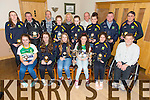 North Kerry Ladies Football, Winners of the All Ireland Under 14 Football Championships were presented with awards at their annual Genral meeting at Kerins O'Rahillys Clubhouse on Thursday. Pictured  Front l-r Muireann Moriarty, Erica O'Sullivan, Molly O'Carroll, Sophie Lynch, Blathnaid Casey, Maurice McNamara (Secretary).  Back l-r Francis Bowler, Mick Hanafin, Frank McLoughlin, Niamh Ni Chonchuir, Jayden Lucey, Jade Powell, Joby Costello, Rory Kilgallon.  Back l-r Christina Curtin, James Hayes