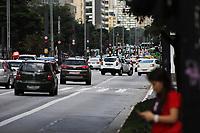 SÃO PAULO, SP, 20.03.2020 - TRÂNSITO-SP - Trânsito tranquilo, mesmo com o rodízio liberado, na Avenida Paulista, em São Paulo, nesta sexta-feira, 20. (Foto Charles Sholl/Brazil Photo Press)