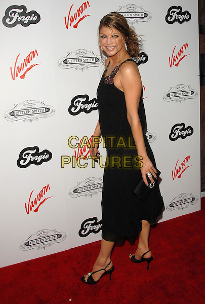 FERGIE - STACEY FERGUSON.Fergie's Birthday Party at Citizen Smith Nightclub in Hollywood, California, USA. .March 28th, 2006.Ref: DVS.Black Eyed Peas full length black dress .www.capitalpictures.com.sales@capitalpictures.com.Supplied By Capital PIctures