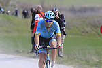 Dmitriy Gruzdev (KAZ) Astana Pro team attacks on sector 8 Monte Santa Maria during Strade Bianche 2019 running 184km from Siena to Siena, held over the white gravel roads of Tuscany, Italy. 9th March 2019.<br /> Picture: Eoin Clarke | Cyclefile<br /> <br /> <br /> All photos usage must carry mandatory copyright credit (&copy; Cyclefile | Eoin Clarke)
